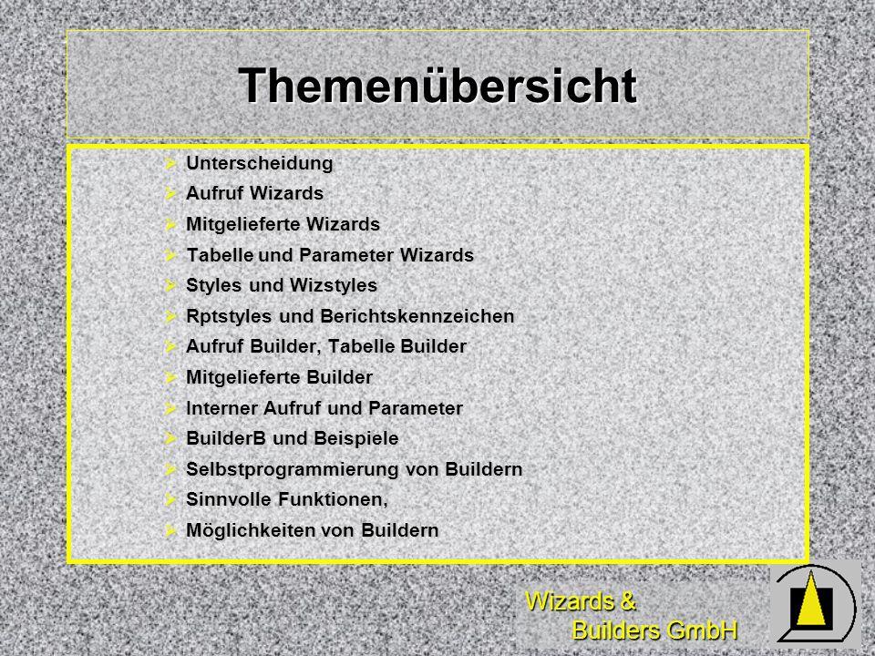 Wizards & Builders GmbH Bibliothek WIZSTYLE.VCX (2) WizCodeStyleFlag Button/Code-Stil WizCodeStyleFlag Button/Code-Stil WizFieldLayoutklasse Textboxen WizFieldLayoutklasse Textboxen WizMaxCharFldZeichenzahl Textbox->Editbox WizMaxCharFldZeichenzahl Textbox->Editbox WizCaptionsFlag Caption aus DBC WizCaptionsFlag Caption aus DBC WizGridLayoutklasse Grids WizGridLayoutklasse Grids WizMemoLayoutklasse Editboxen WizMemoLayoutklasse Editboxen WizLabelLayoutklasse Label WizLabelLayoutklasse Label WizLblDefWidFlag Labels gleiche Breite WizLblDefWidFlag Labels gleiche Breite