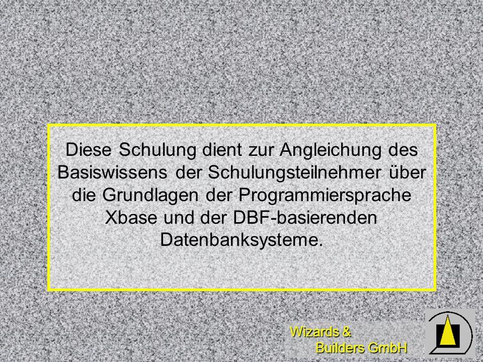 Wizards & Builders GmbH Variablen und Scoping PrivatePrefix: p PrivatePrefix: p Public / GlobalPrefix: g Public / GlobalPrefix: g Local (Array)Prefix: l Local (Array)Prefix: l (L)ParameterPrefix: t (L)ParameterPrefix: t Referenzen (?)(Prefix: o) Referenzen (?)(Prefix: o) Properties (?)(Prefix s.o.) Properties (?)(Prefix s.o.)