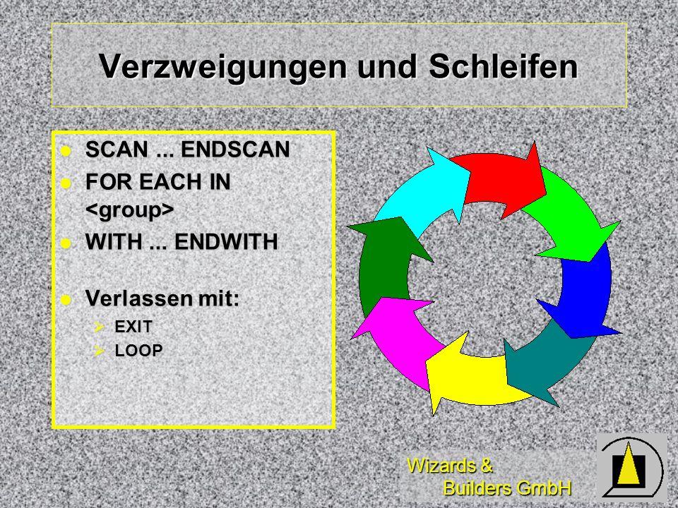 Wizards & Builders GmbH Verzweigungen und Schleifen SCAN...