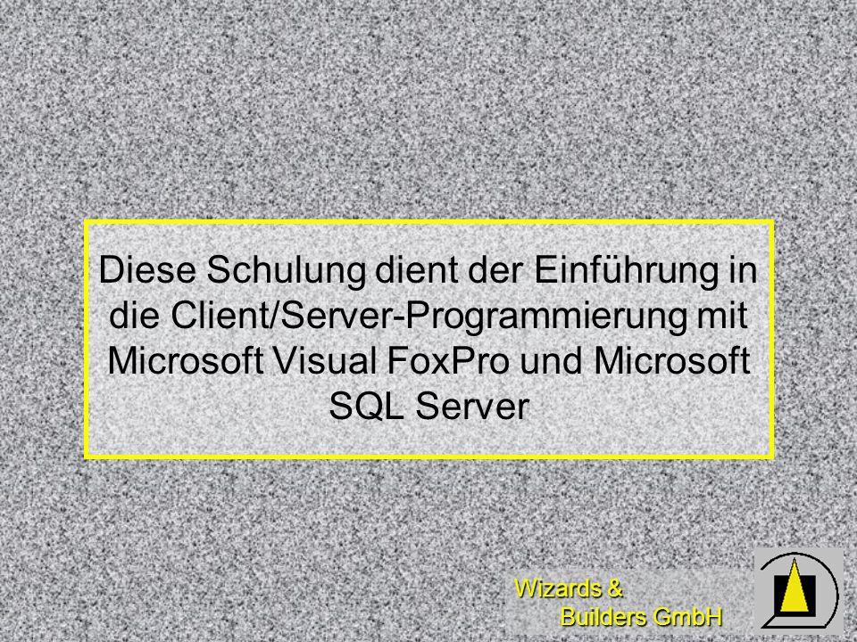 Wizards & Builders GmbH Unterschiede zwischen Remote View / SQL-PassThrough Remote View: VFP SQL-Select VFP SQL-Select Controlsource Controlsource Connection-Mgmt.