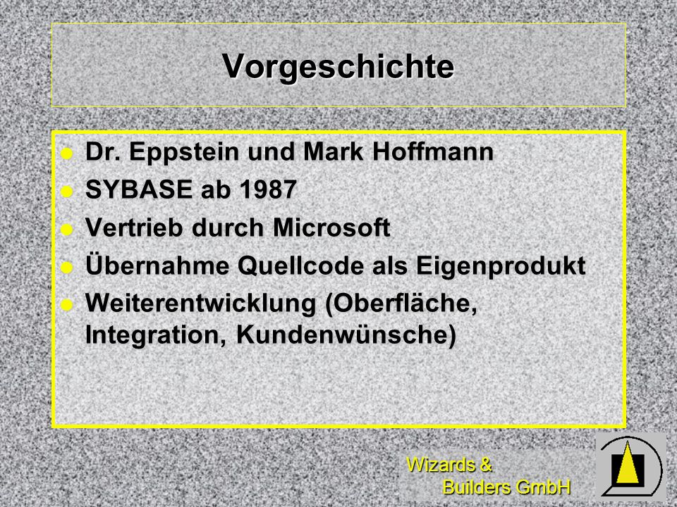 Wizards & Builders GmbH Vorgeschichte Dr. Eppstein und Mark Hoffmann Dr.