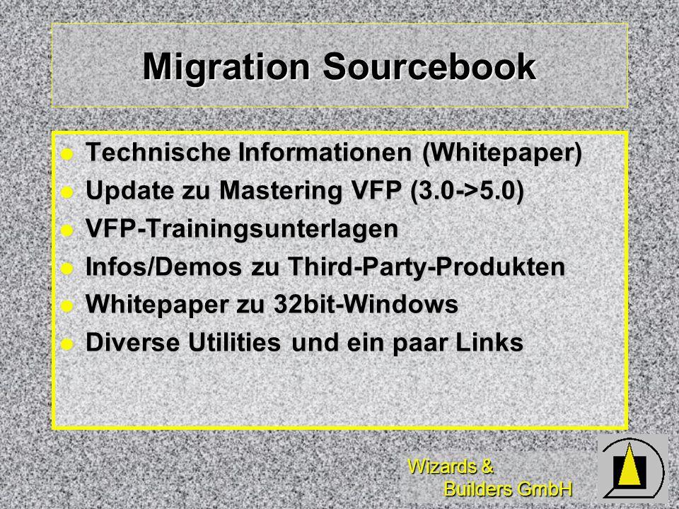 Wizards & Builders GmbH Visual FoxPro 98 (Vorschau) Online-Hilfe im Format Internet Explorer 4.0 - wird mitinstalliert.