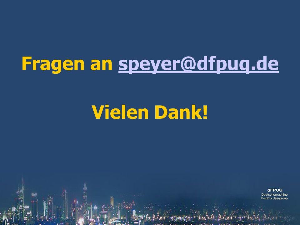 Fragen an speyer@dfpuq.despeyer@dfpuq.de Vielen Dank!