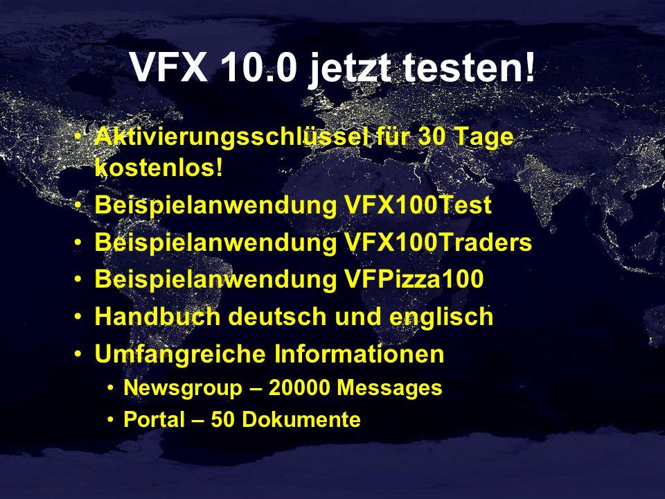 VFX 10.0 jetzt testen.Aktivierungsschlüssel für 30 Tage kostenlos.