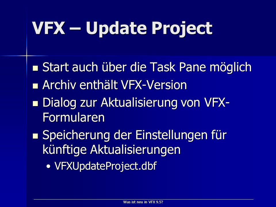 Was ist neu in VFX 9.5.