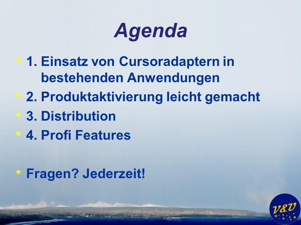 Agenda * 1. Einsatz von Cursoradaptern in bestehenden Anwendungen * 2.