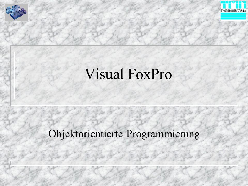 Visual FoxPro Objektorientierte Programmierung