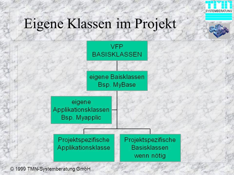 © 1999 TMN-Systemberatung GmbH Eigene Klassen im Projekt