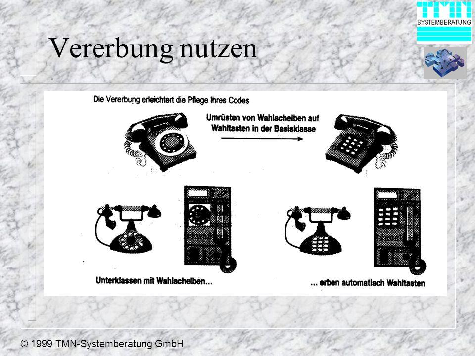 © 1999 TMN-Systemberatung GmbH Vererbung nutzen