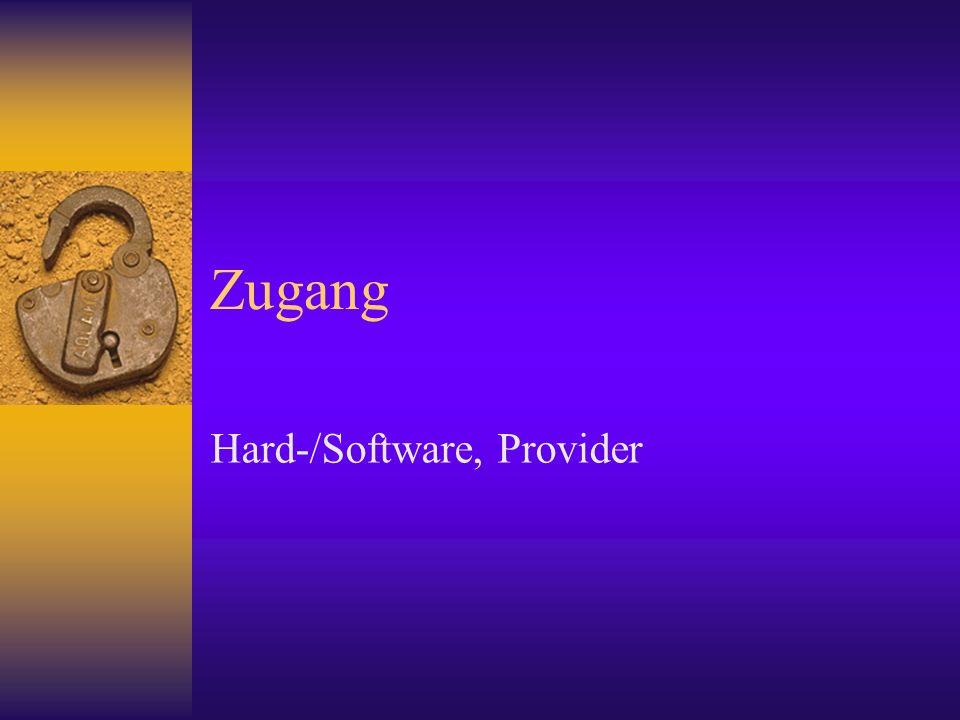 Zugang Hard-/Software, Provider