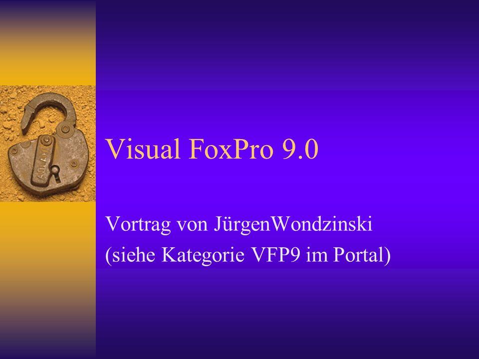 Visual FoxPro 9.0 Vortrag von JürgenWondzinski (siehe Kategorie VFP9 im Portal)