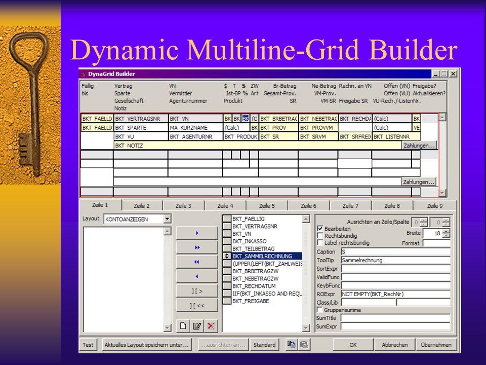 Dynamic Multiline-Grid Builder