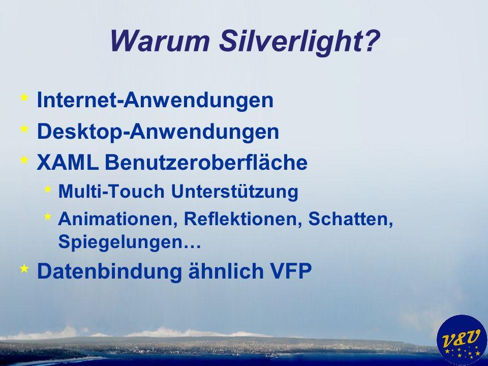 Warum Silverlight.