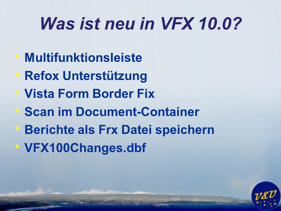 Was ist neu in VFX 10.0.