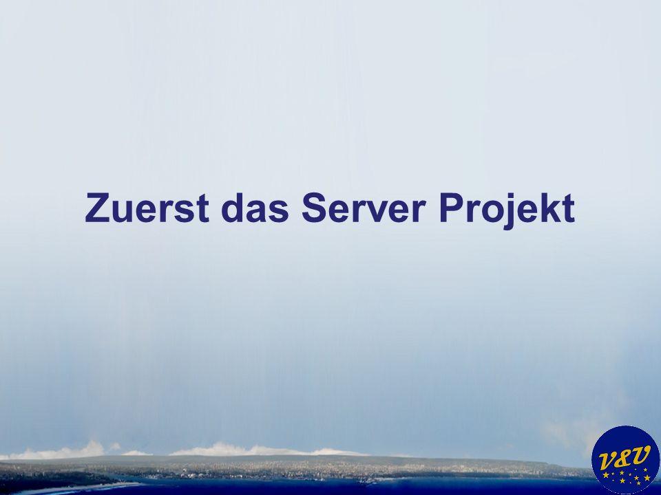 Zuerst das Server Projekt