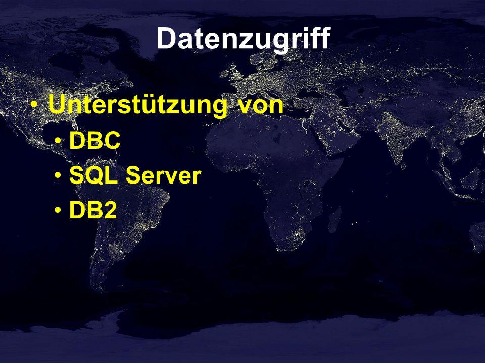 Datenzugriff Unterstützung von DBC SQL Server DB2