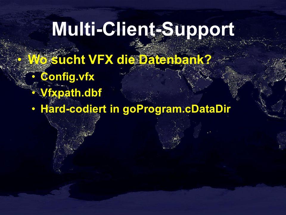 Multi-Client-Support Wo sucht VFX die Datenbank.