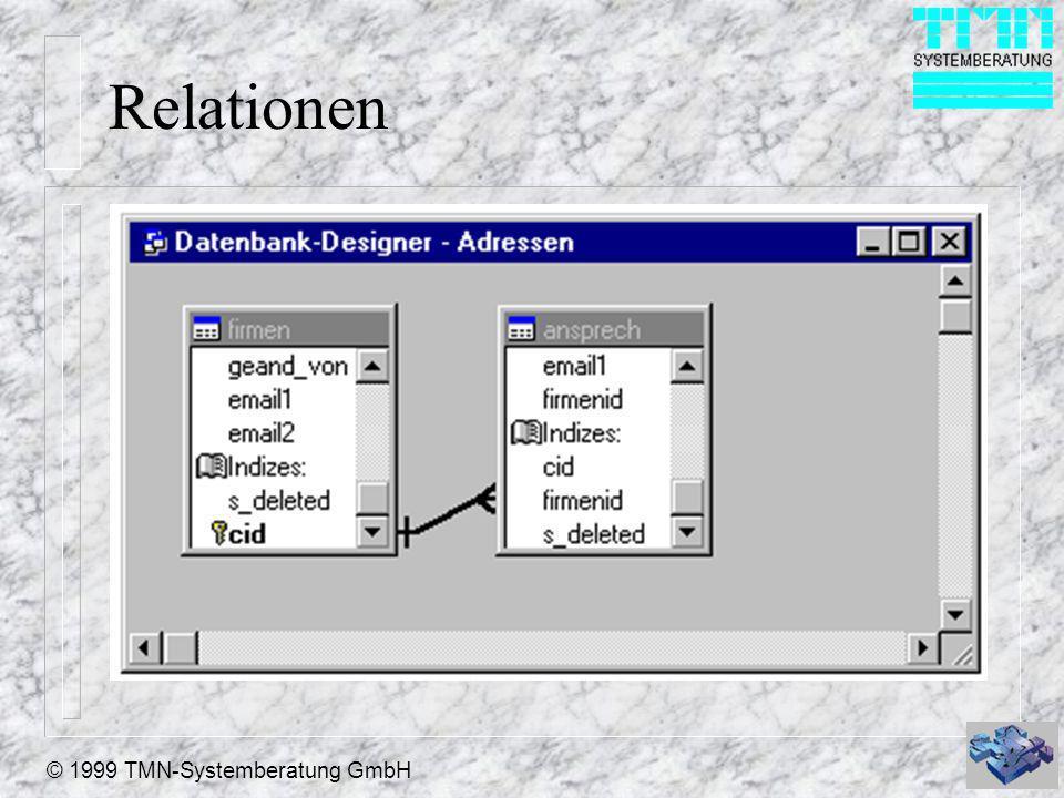© 1999 TMN-Systemberatung GmbH Relationen