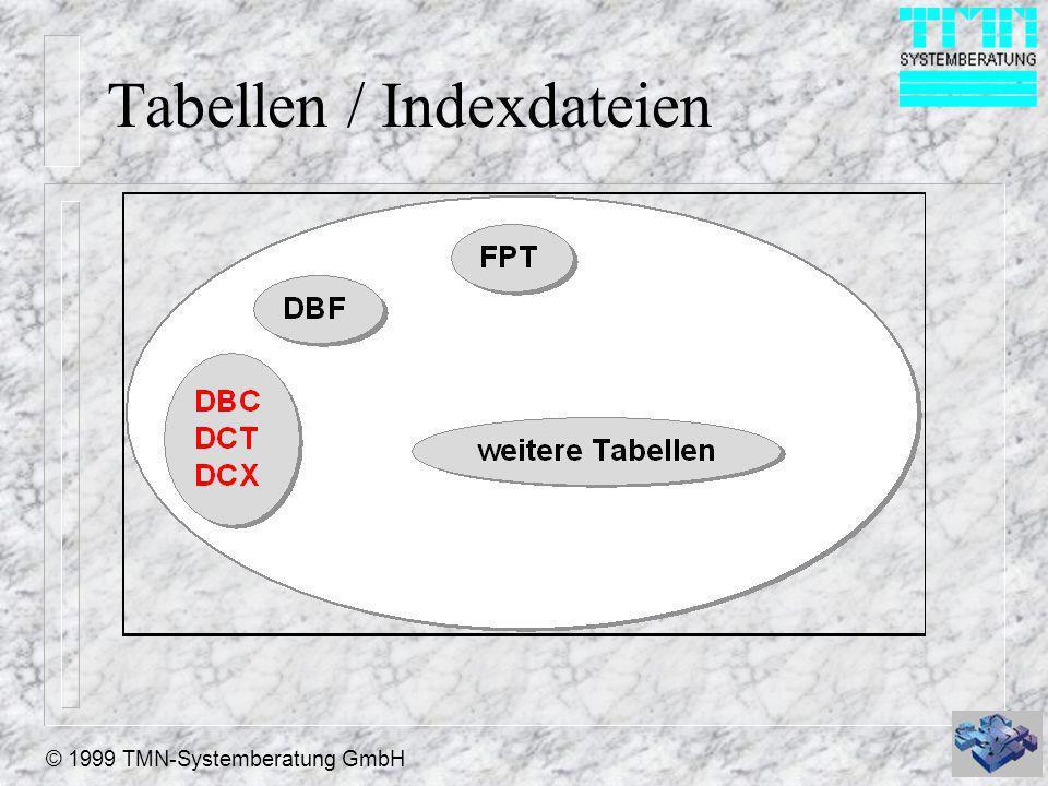 © 1999 TMN-Systemberatung GmbH Tabellen / Indexdateien
