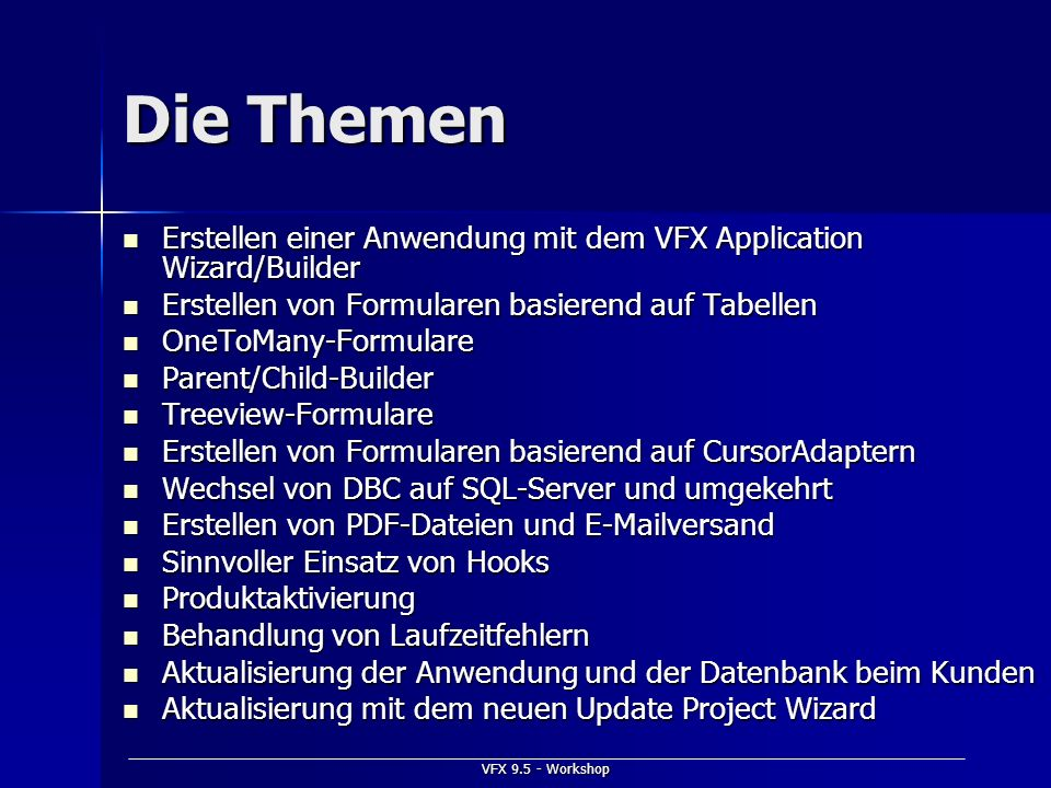 VFX 9.5 - Workshop Produktaktivierung Einschalten im VFX - Application Wizard Einschalten im VFX - Application Wizard –3.