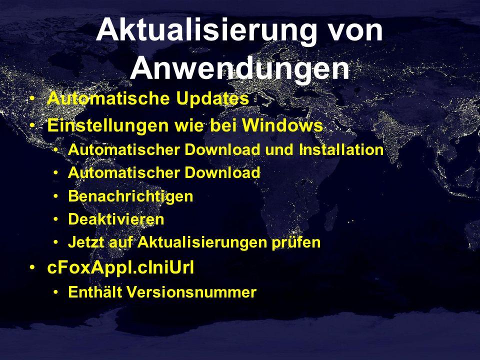 Aktualisierung von Anwendungen Automatische Updates Einstellungen wie bei Windows Automatischer Download und Installation Automatischer Download Benac