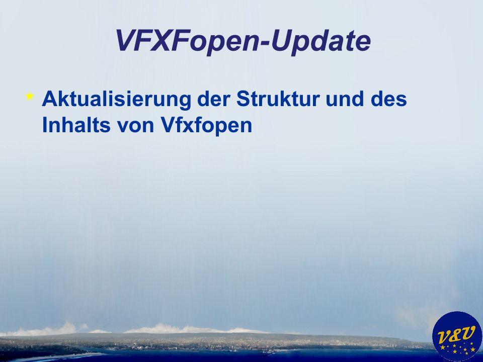 VFXFopen-Update * Aktualisierung der Struktur und des Inhalts von Vfxfopen