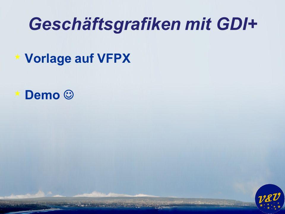 Geschäftsgrafiken mit GDI+ * Vorlage auf VFPX * Demo