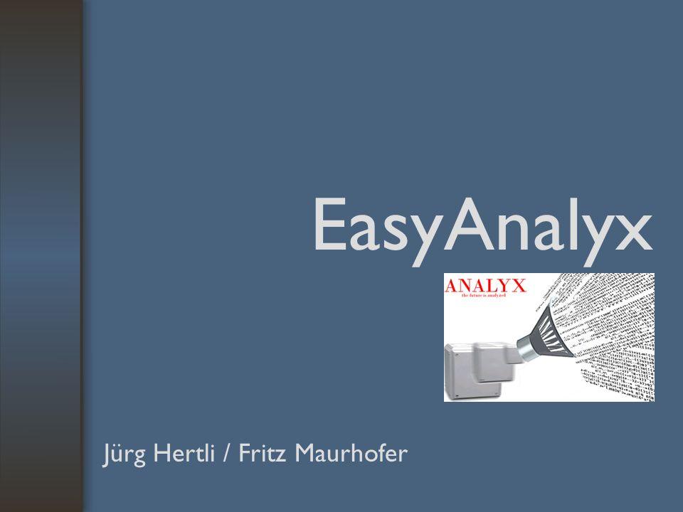 EasyAnalyx Jürg Hertli / Fritz Maurhofer