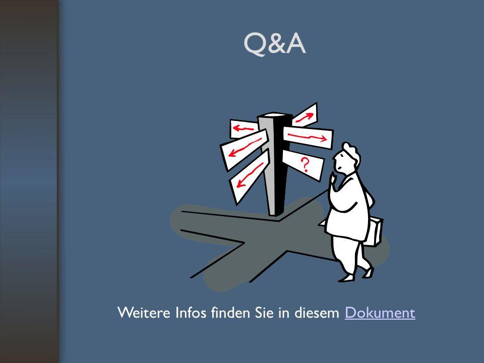 Q&A Weitere Infos finden Sie in diesem DokumentDokument