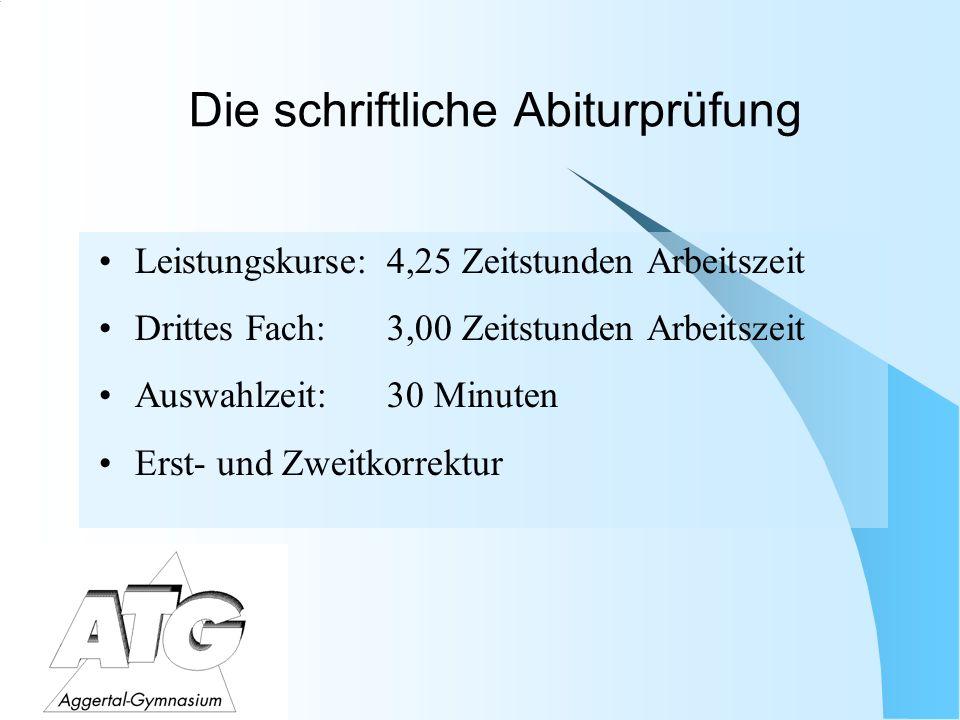 Die mündliche Abiturprüfung Viertes Abiturfach für jeden verpflichtendes Fach der mündlichen Abiturprüfung.