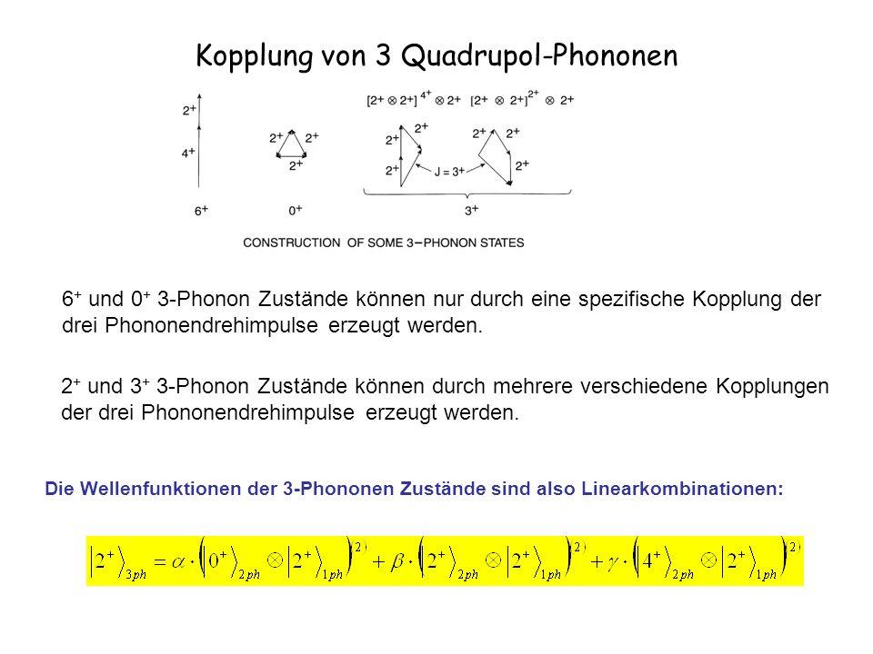 Kopplung von 3 Quadrupol-Phononen 6 + und 0 + 3-Phonon Zustände können nur durch eine spezifische Kopplung der drei Phononendrehimpulse erzeugt werden