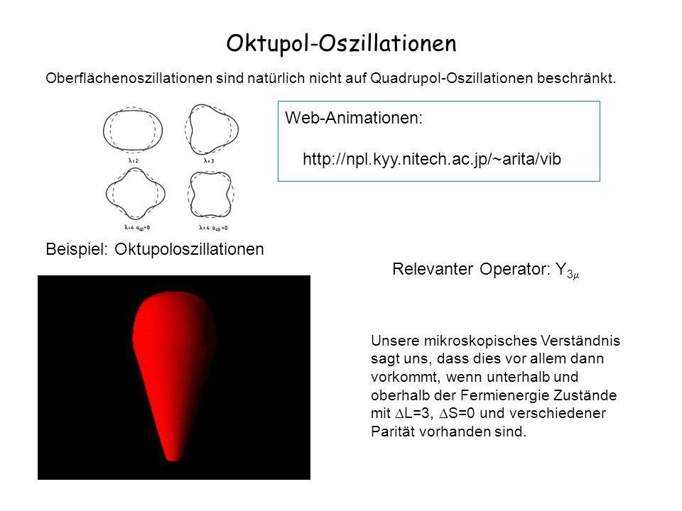 Oktupol-Oszillationen Oberflächenoszillationen sind natürlich nicht auf Quadrupol-Oszillationen beschränkt. Beispiel: Oktupoloszillationen Unsere mikr