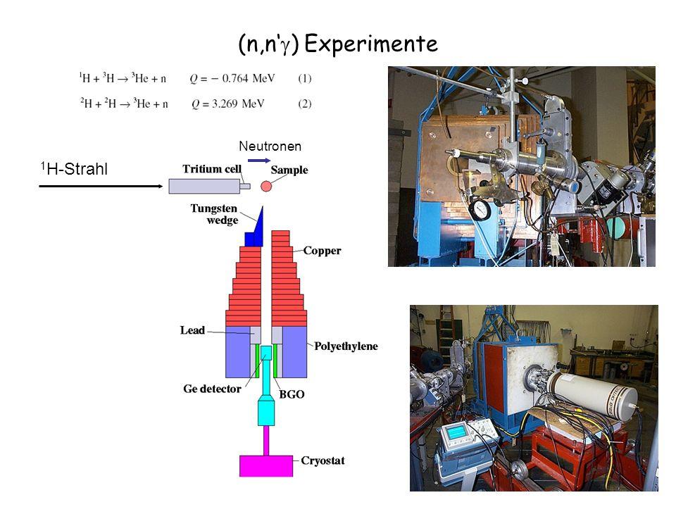 (n,n ) Experimente 1 H-Strahl Neutronen