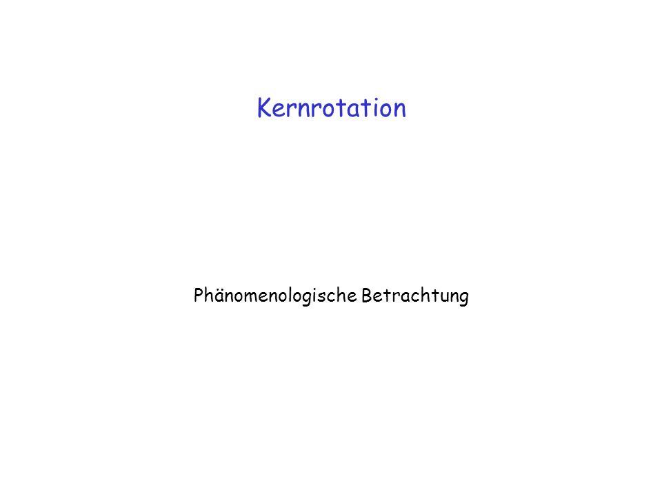 Kernrotation Phänomenologische Betrachtung
