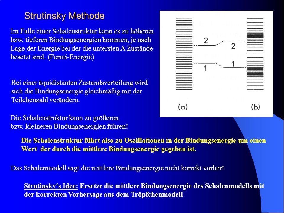 Strutinsky Methode Die Schalenstruktur kann zu größeren bzw.