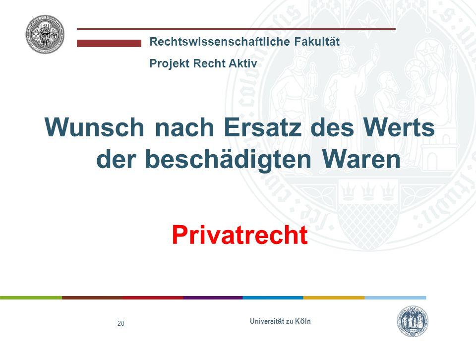 Rechtswissenschaftliche Fakultät Projekt Recht Aktiv Interesse der Öffentlichkeit an der Schließung des Ladens Öffentliches Recht Universität zu Köln 21