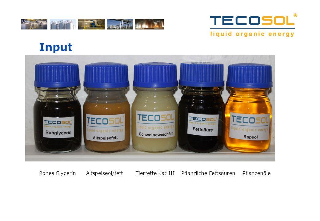 Input Rohes Glycerin Altspeiseöl/fett Tierfette Kat III Pflanzliche Fettsäuren Pflanzenöle