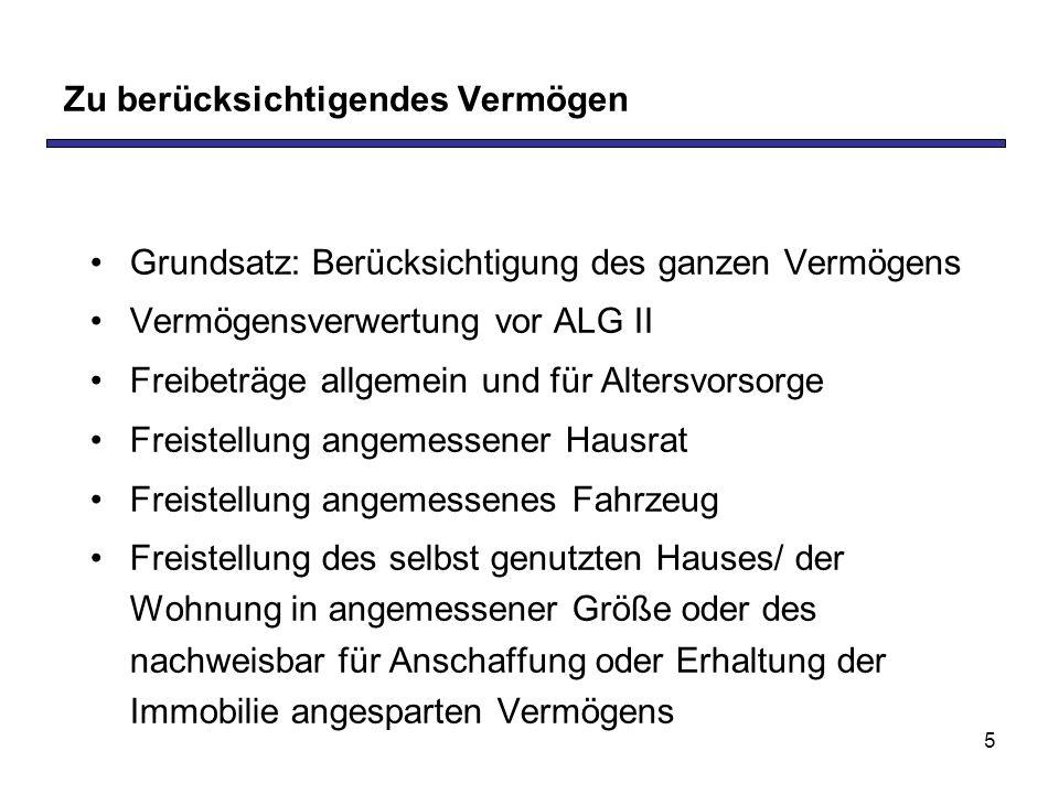 16 Hartz IV – Ombudsrat und seine Empfehlungen Rolle und Aufgabe: Kritische Begleitung der Umsetzung des SGB II + Aufdeckung von Schwachstellen + Empfehlungen zur Weiterentwicklung Mitglieder: Bergmann, Biedenkopf, Rappe Zwischenbericht vom 29.