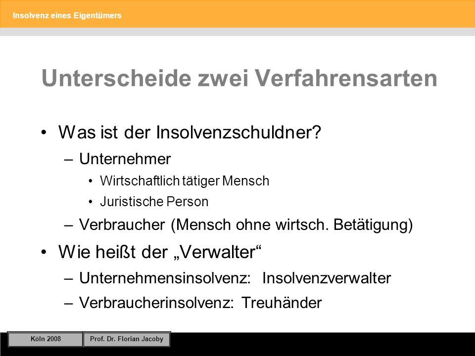 Insolvenz eines Eigentümers Köln 2008Prof.Dr. Florian Jacoby Folie 25 § 10 I Nr.