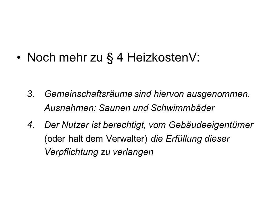 § 5 Ausstattung zur Verbrauchserfassung 1.