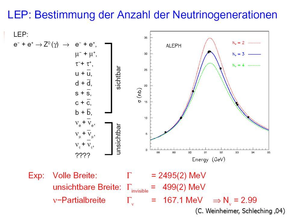 Neutrinogenerationen (C. Weinheimer, Schleching 04)