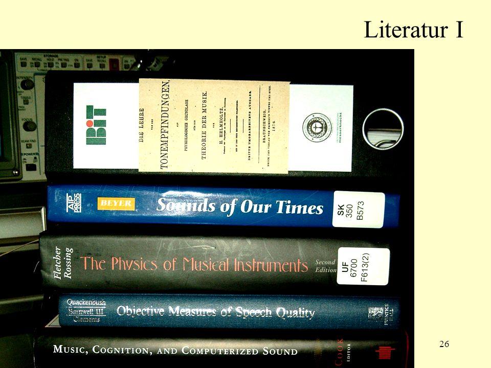 26 Literatur I