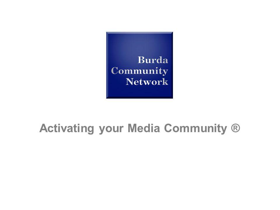 a hubert burda media company Community Research Activating your Media Community ®