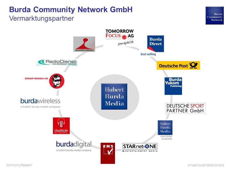 a hubert burda media company Community Research Burda Community Network GmbH Vermarktungspartner