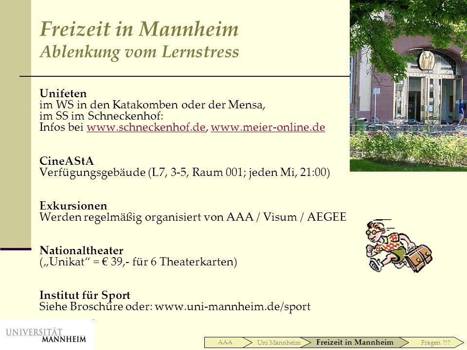 Unifeten im WS in den Katakomben oder der Mensa, im SS im Schneckenhof: Infos bei www.schneckenhof.de, www.meier-online.dewww.schneckenhof.dewww.meier