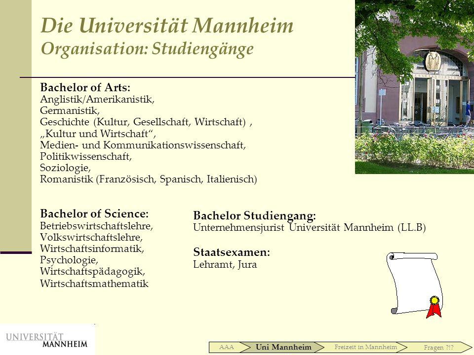 Bachelor of Arts: Anglistik/Amerikanistik, Germanistik, Geschichte (Kultur, Gesellschaft, Wirtschaft), Kultur und Wirtschaft, Medien- und Kommunikatio