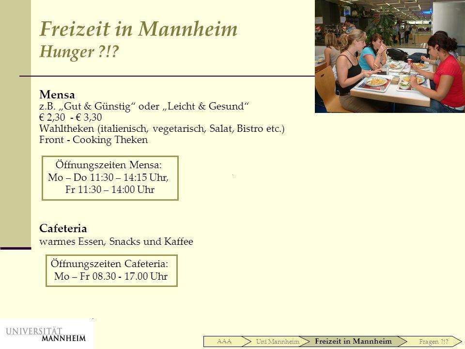 Mensa z.B. Gut & Günstig oder Leicht & Gesund 2,30 - 3,30 Wahltheken (italienisch, vegetarisch, Salat, Bistro etc.) Front - Cooking Theken Cafeteria w