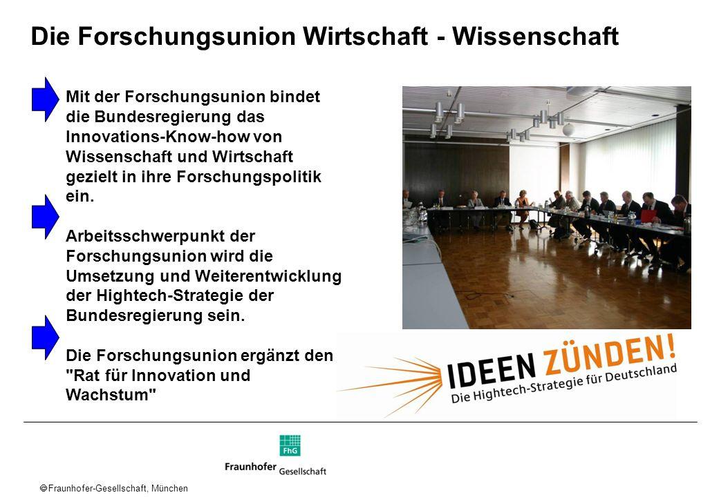 Fraunhofer-Gesellschaft, München Rahmenbedingungen in Deutschland Forschung schafft Wert Schneller zu Innovationen Fazit