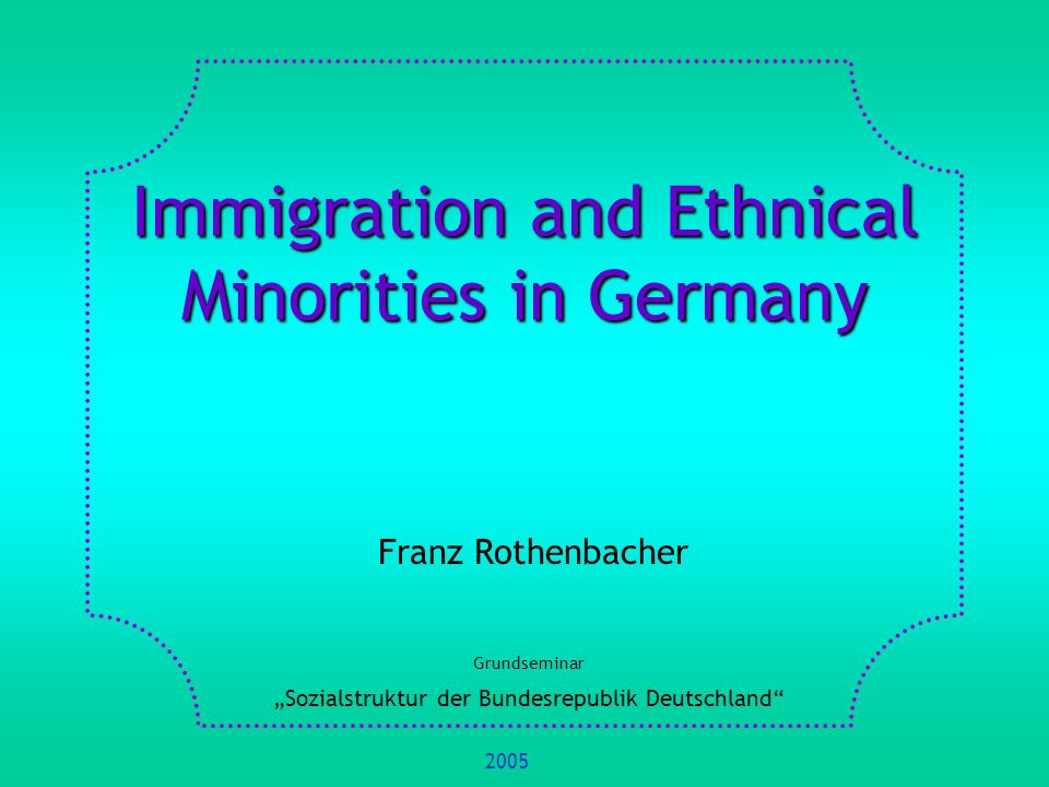 1.Basic Concepts and Definitions 2.Methods of Measurement of Migration 3.Sociological Theory and Migration 4.Historical Development of Migration 5.Life Chances of Migrants 6.Integration of Migrants 7.Migration in International Comparison 8.References