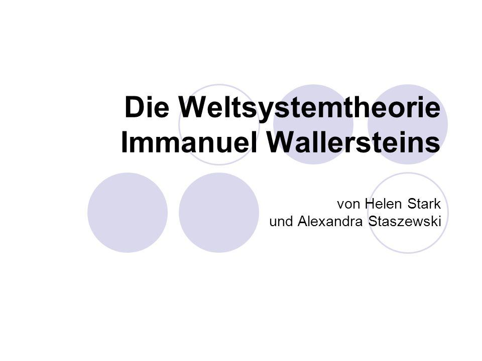 Die Weltsystemtheorie Immanuel Wallersteins von Helen Stark und Alexandra Staszewski
